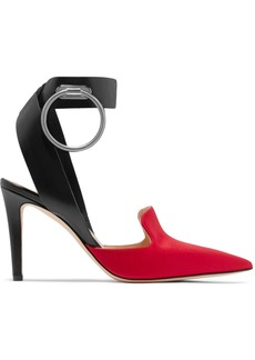 Monse Embellished Leather And Satin Pumps