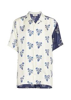 Monse Flower-Pot Silk Shirt