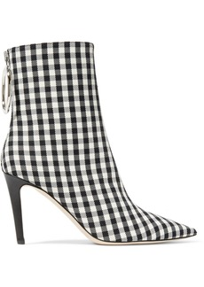 Monse Gingham Canvas Sock Boots