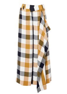 Monse Gingham Front Slit Culottes