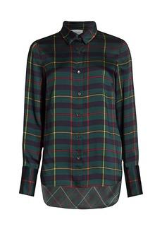 Monse Harris Tartan Cowl Back Shirt