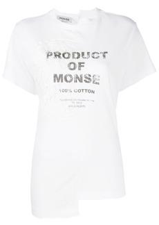 Monse logo asymmetric T-shirt
