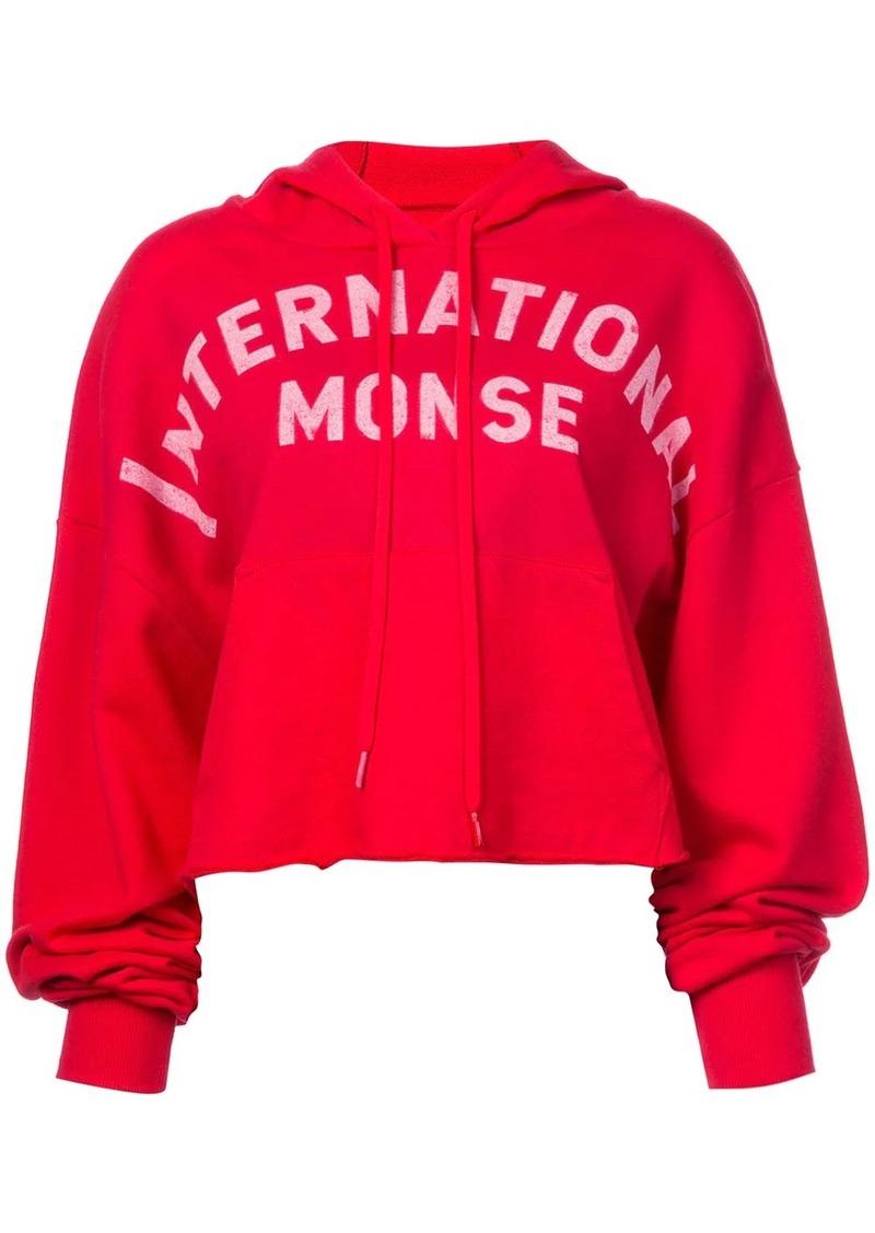Monse logo print hoodie
