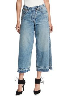 Monse Asymmetric Cropped Wide-Leg Jeans