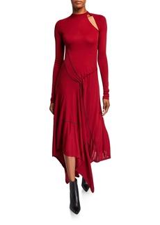 Monse Asymmetric Cutout Maxi Dress