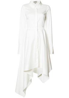 Monse asymmetric shirt dress - White