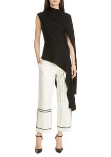 Monse Asymmetrical Draped Merino Wool Sweater