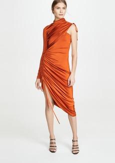 Monse Asymmetrical Drawstring Jersey Dress