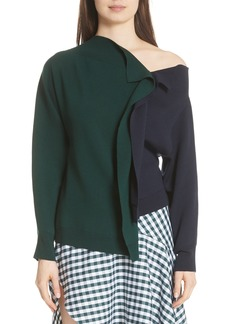 MONSE Bicolor Asymmetrical Sweater