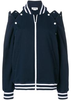 Monse cut-out shoulder bomber jacket - Blue