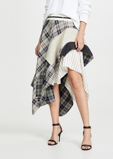 Monse Draped Plaid Jacket Skirt
