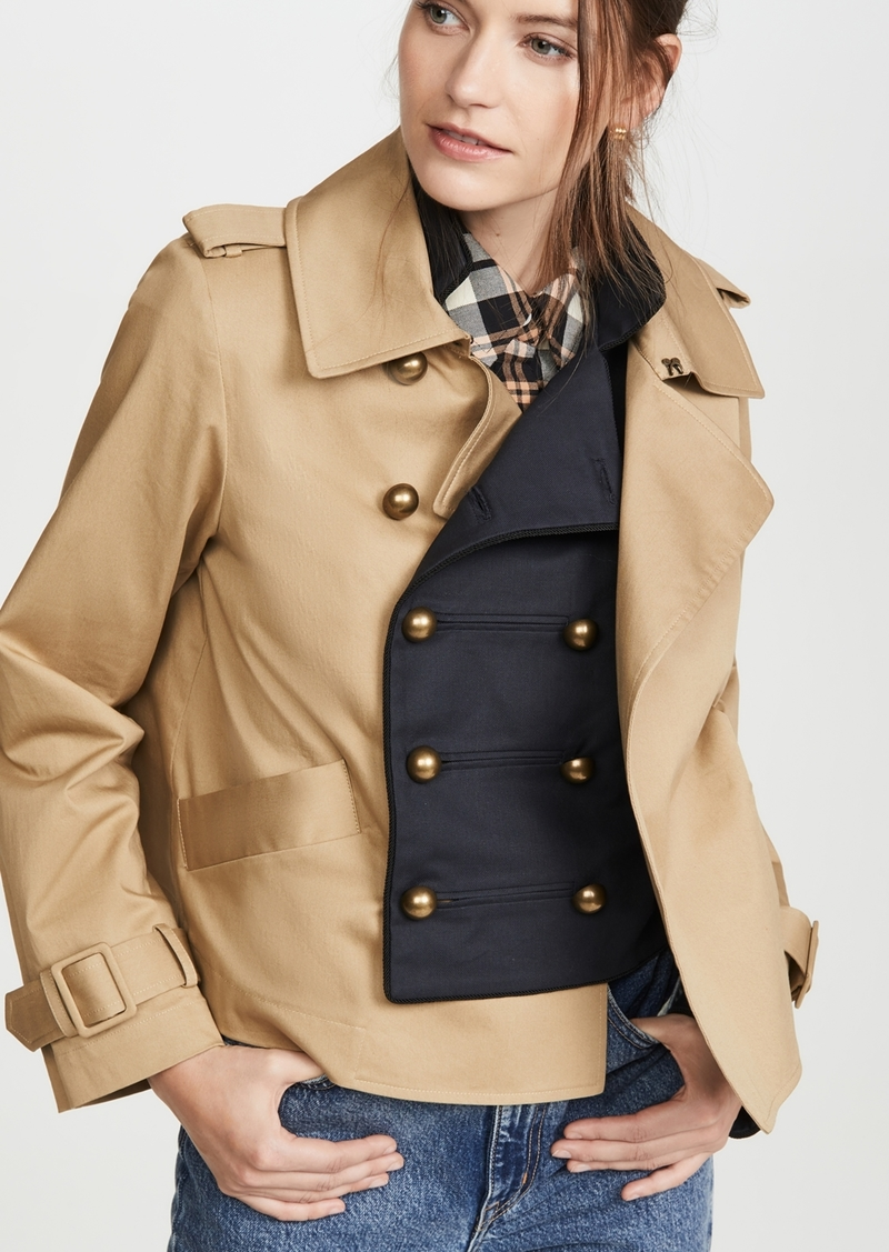 Monse Half and Half Cropped Jacket