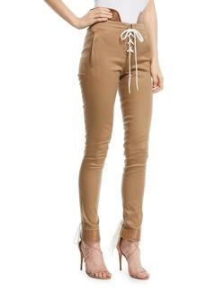 Monse Lace-Up Skinny Legging Pants