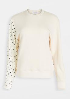 Monse M Dot Shirt Sleeve Sweatshirt