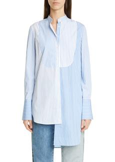 Monse Mixed Stripe Asymmetrical Shirt