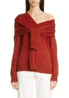 Monse One-Shoulder Merino Wool Sweater