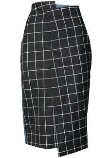 Monse plaid pencil skirt