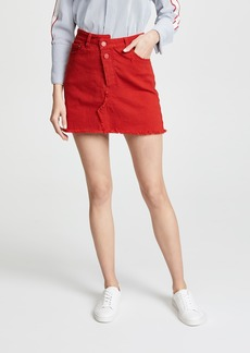 Monse Reconstructed Denim Miniskirt