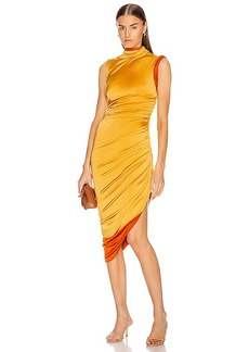 Monse Sleeveless Double Layer Twisted Dress