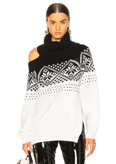 Monse Snowflake Cold Shoulder Sweater