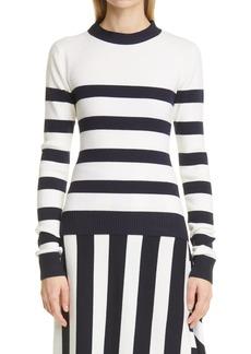 Monse Stripe Open Back Sweater