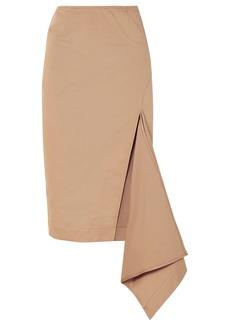 Monse Woman Asymmetric Cotton-blend Gabardine Skirt Sand