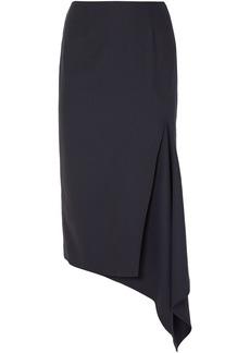 Monse Woman Asymmetric Wool-blend Twill Midi Skirt Navy