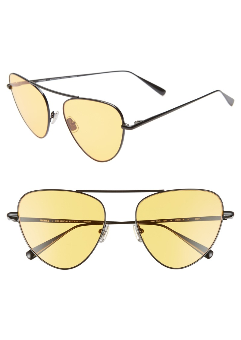 Monse x Morgenthal Frederics Erica 57mm Cat Eye Sunglasses