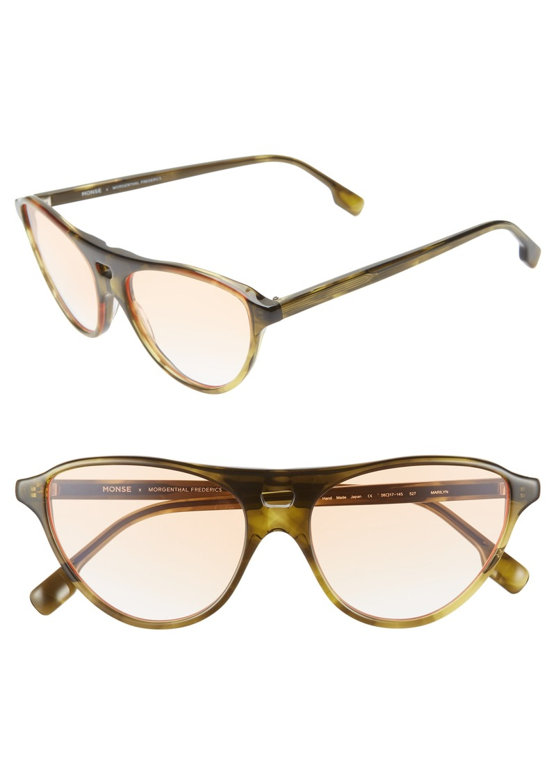 Monse x Morgenthal Frederics Marilyn 56mm Cat Eye Sunglasses