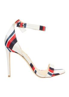 Monse Multi Stripe Ankle Strap Sandals