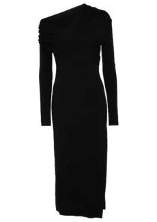 Monse Off-shoulder wool-blend midi dress