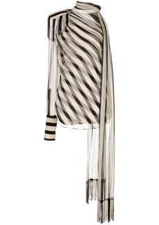 Monse Regalia striped chiffon scarf blouse