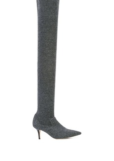 Monse thigh-high knitted sock boot