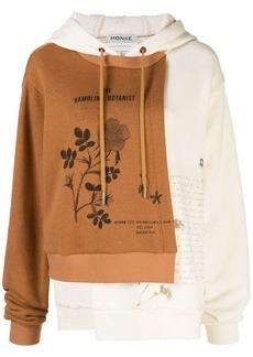 Monse panelled Botanist print sweatshirt