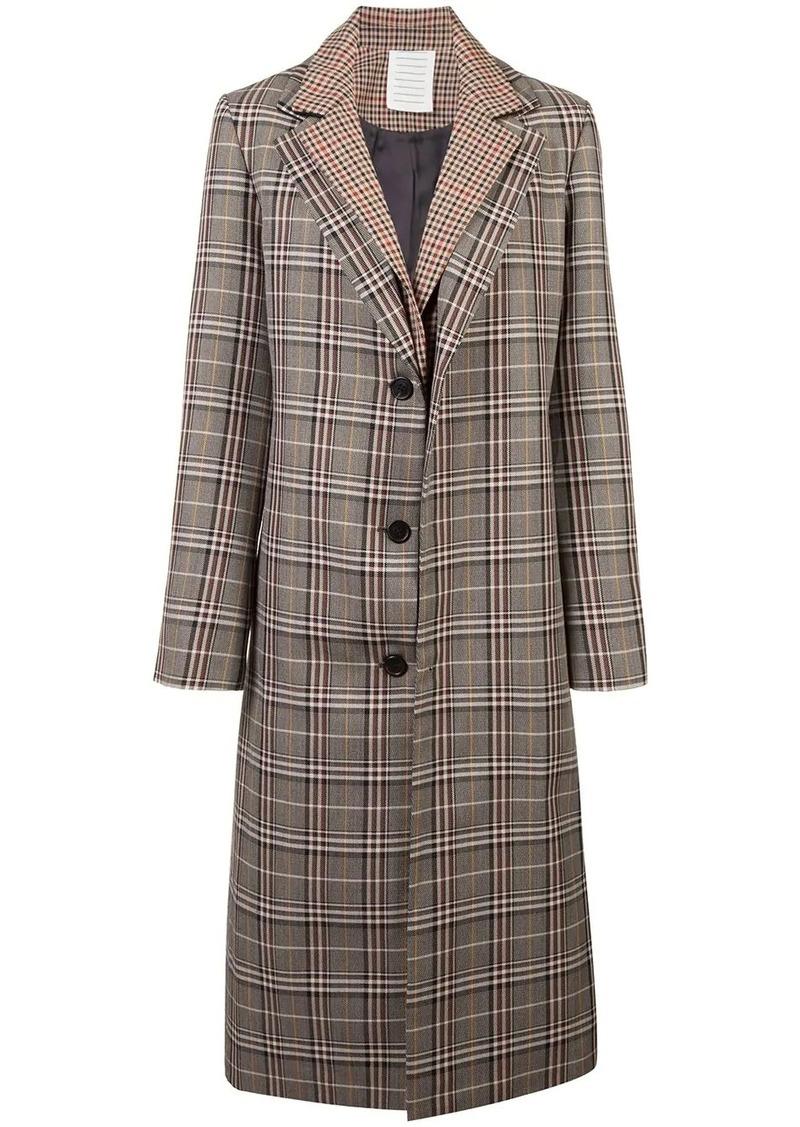 Monse plaid single breasted coat
