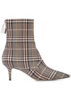 Monse plaid sock boots