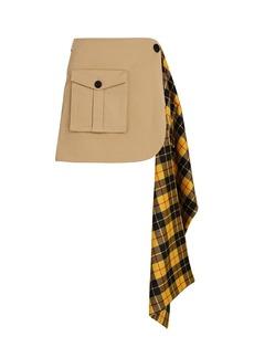 Monse Pleated Tartan Cargo Mini Skirt