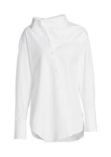 Monse Poplin Twisted Collar Shirt