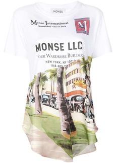 Monse printed asymmetric T-shirt