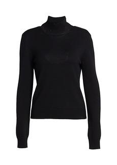 Monse Ribbed Merino Wool Cowlback Sweater