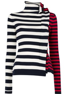 Monse ruffled striped jumper