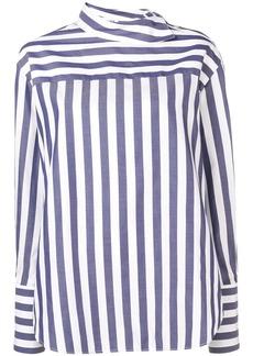 Monse striped poplin deconstructed shirt