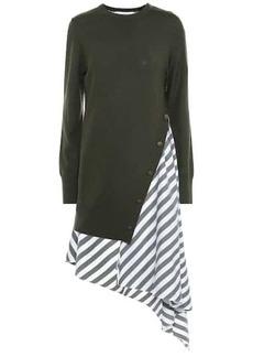 Monse Striped wool and cotton dress
