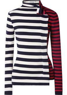 Monse Striped Wool Turtleneck Sweater