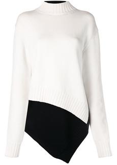 Monse two tone asymmetric sweater