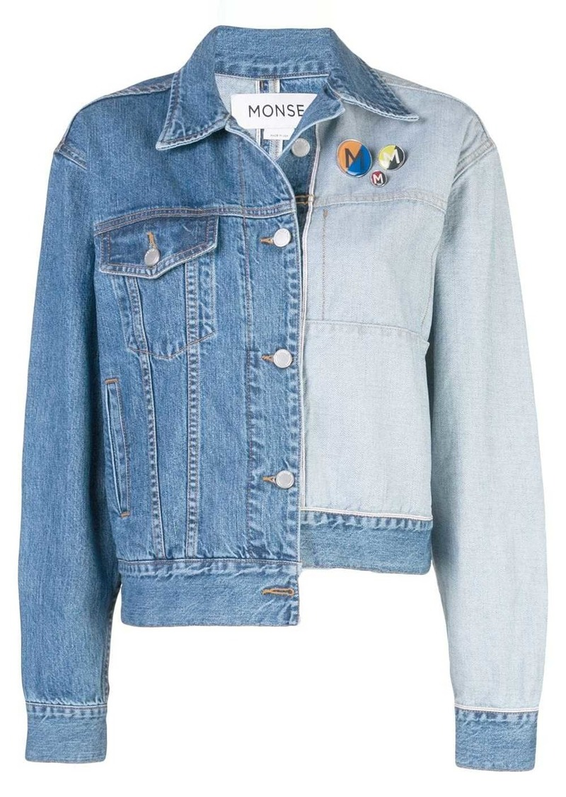 Monse two-tone denim jacket