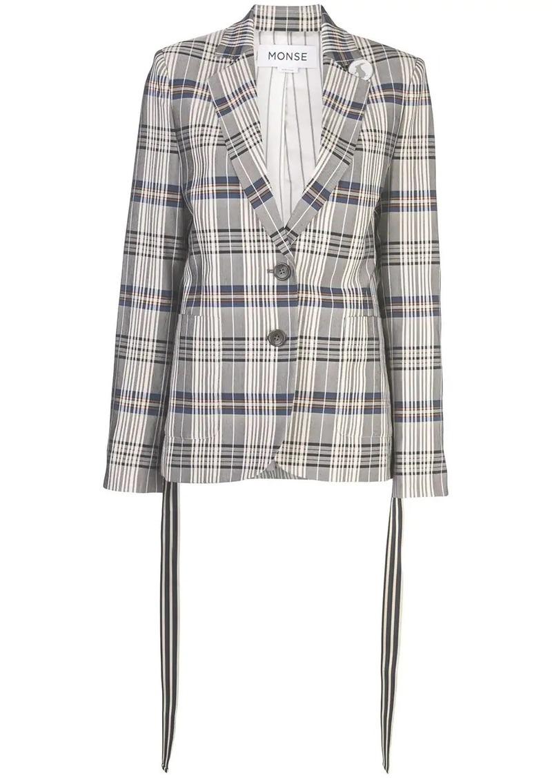 Monse vintage plaid blazer