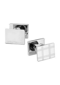 Montblanc Essential Sartorial Check-Pattern Rectangular Steel Cuff Links