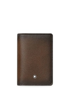 Montblanc Gusseted Leather Business Card Holder