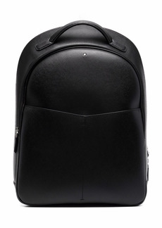 Montblanc logo-plaque textured-finish backpack